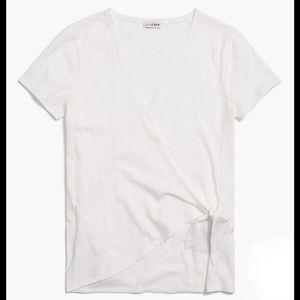 Wrap-tie T-shirt